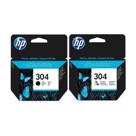 Pack Cartouche HP 304 Noir et Couleur 3JB05AE CARTHP304P - 1