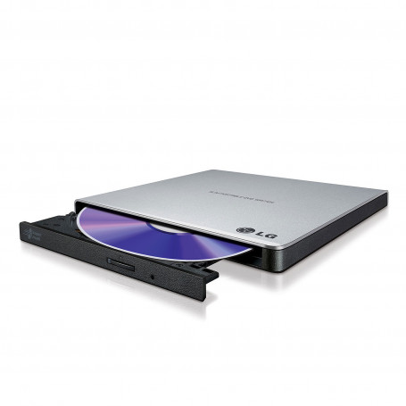 Graveur Externe USB 2.0 LG Slim CD/DVD 24x/8x GP57ES40 Silver GREX-LG-GP57ES40S - 1