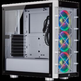 Boitier Corsair iCUE 465X RGB Blanc ATX USB 3.0