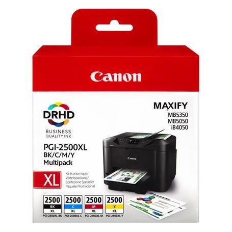 Cartouche Canon PGI-2500XL Multipack Noir Cyan Magenta Yellow