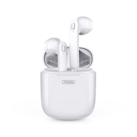 Ecouteurs Sans Fils Fairplay TWS T01 Blanc Reachargeable Bluetooth 5 MICFP-T01 - 1