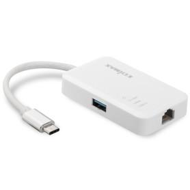 Adaptateur USB Type-C vers RJ45 + Hub USB 3.0 Edimax EU-4308