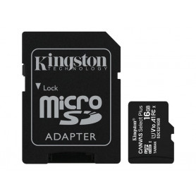 Mémoire Micro SDHC 16Go Kingston Canvas Select Plus Class 10 UHS-I U1