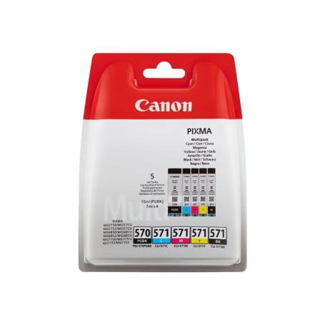 Cartouche Canon PGI-570 + CLI-571 Pack 5 Cartouches