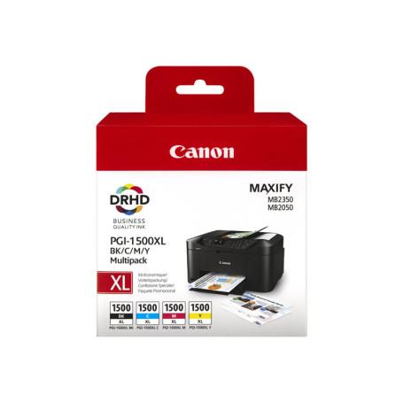 Cartouche Canon PGI-1500XL Multipack Noir Cyan Magenta Yellow