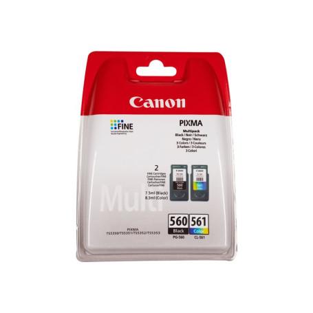 Pack Cartouche Canon PG-560 Noir + CL-561 Couleurs 180 pages CARTPG560+CL561 - 1