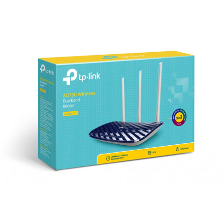 Routeur TP-Link Archer C20 AC750 Wifi N750 Dual-Band 4 Ports 10/100