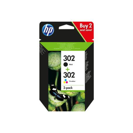 Pack Cartouche HP 302 Noir + Couleur X4D37AE