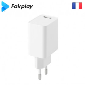 Alimentation Secteur 220V vers USB 5V 2.4A Fairplay MILANO ALIMUSBFP-H02W - 1