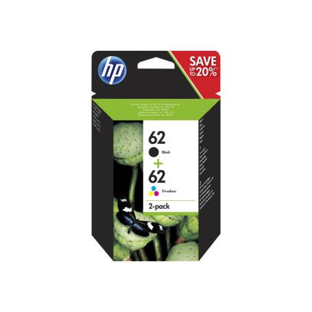 Pack Cartouche HP 62 Noir+Couleur N9J71AE