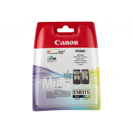 Pack Cartouche Canon PG-510 + CL-511