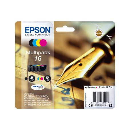 Cartouche Epson 16 Noir + 3 Couleurs WF-2010/2510/2520/2530/2540