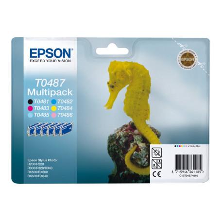 Cartouche Epson T0487 Multipack 1 x Noir et 5 Couleurs CARTEPT0487 - 1