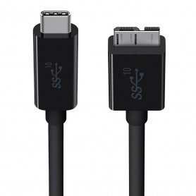 Cable USB 3.1 type C vers B micro 3.0 1m