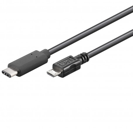 Cable USB 3.1 type C vers B micro 2.0 1m