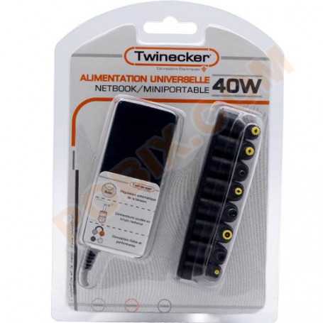 Chargeur Twinecker PC Portable 9.5-20V 40Watts NetBook