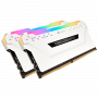 DDR4 Corsair Vengeance RGB PRO Kit 16Go 2x8Go 3200Mhz 1.35V CL16 Blan DDR4_16_CO_1078719 - 1