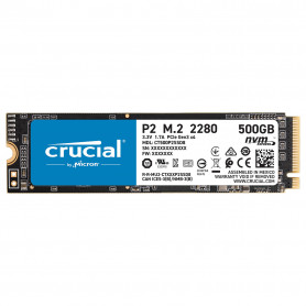 SSD 500Go Crucial P2 M.2 Type 2280 2300Mo/s 940Mo/s NVMe PCIe