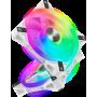 Ventilateur Corsair iCUE QL120 RGB Triple Pack Blanc 12cm VENCOQL120RGB-W-X3 - 1