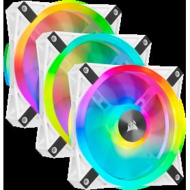 Ventilateur Corsair iCUE QL120 RGB Triple Pack Blanc 12cm