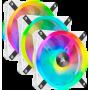 Ventilateur Corsair iCUE QL120 RGB Triple Pack Blanc 12cm VENCOQL120RGB-W-X3 - 2