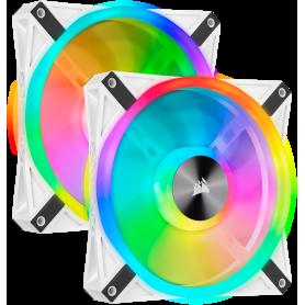 Ventilateur Corsair iCUE QL140 RGB Dual Pack Blanc 14cm