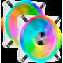 Ventilateur Corsair iCUE QL140 RGB Dual Pack Blanc 14cm  VENCOQL140RGB-W-X2 - 2