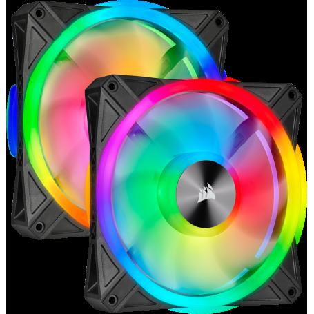 Ventilateur Corsair iCUE QL140 RGB Dual Pack 14cm  VENCOQL140RGB-X2 - 2