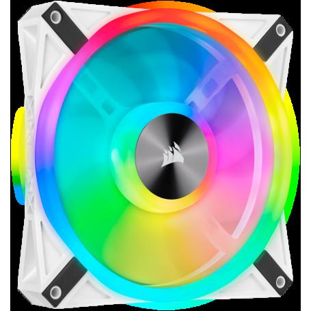 Ventilateur Corsair iCUE QL140 RGB Blanc 14cm VENCOQL140RGB-W - 2