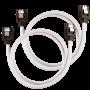 2x Câbles Corsair gainé Premium SATA 6Gbps 60 cm Blanc NSATACO-60-W-D - 2