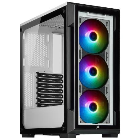Boitier Corsair iCUE 220T RGB Blanc ATX USB 3.0 BTCO220TT-RGB-W - 2