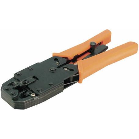 Pince à Sertir LogiLink WZ0003 RJ45/RJ11 Qualité PRO en métal PINCE-LL-WZ0003 - 1