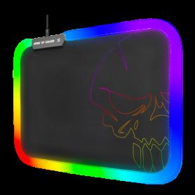Tapis Spirit Of Gamer Skull RGB Gaming Mouse Pad 300x230x3mm