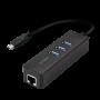 Adaptateur USB Type-C vers RJ45 + Hub USB 3.0 LogiLink UA0283 CRLL-UA0283 - 1