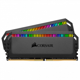 DDR4 Corsair Dominator Platinum RGB Kit 16Go 2x8Go 3200Mhz 1.35V CL16