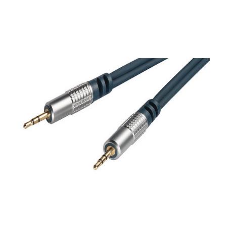 Cable Audio Jack 3.5mm Male/Male 5m Qualité Pro CAJACKM/M05M-HQ - 1