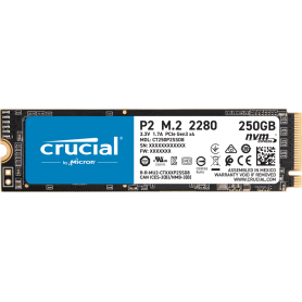 SSD 250Go Crucial P2 M.2 NVMe PCIe Type 2280 2100Mo/s 1150Mo/s