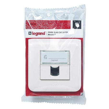 Prise LEGRAND Mosaic RJ45 Cat6 FTP Complet RJ45LGC6FTP-COMP - 1