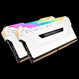 DDR4 Corsair Vengeance RGB PRO Kit 16Go 2x8Go 3600Mhz CL18 Blanc