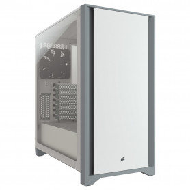 Boitier Corsair iCUE 4000D Tempered Glass Blanc ATX USB 3.1 Type C