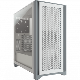 Boitier Corsair iCUE 4000D Airflow Tempered Blanc ATX USB 3.1 Type C