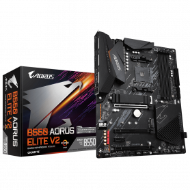 Carte Mère Gigabyte B550 AORUS ELITE V2 ATX AM4 DDR4 USB3.2 M.2 DP