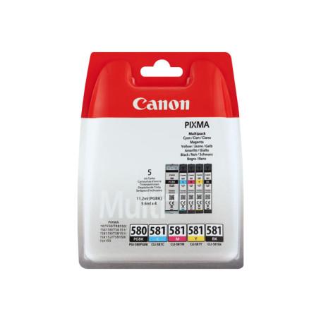 Cartouche Canon CLI-581 Pack 4 Cartouches CARTCLI581PACK - 1