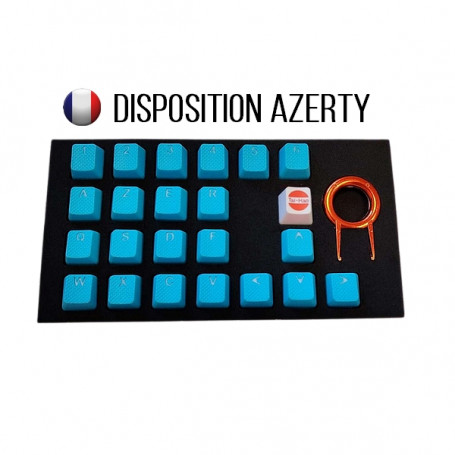 Keycaps DoubleShot TaiHao Neon Bleu 22 Touches Grip Gomme CLTHFR022C03BU103 - 1