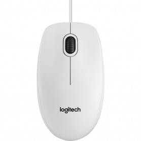 Souris Logitech B100 Blanche Optique 800dpi USB