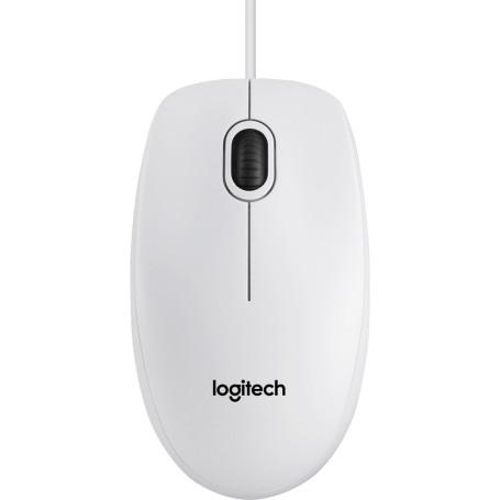 Souris Logitech B100 Blanche Optique 800dpi USB SOLOB100WH - 1