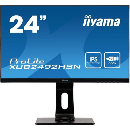 """Ecran iiyama 24"""" XUB2492HSN-B1 1920x1080 4ms DP HDMI DOCK USB-C EC24IIXUB2492HSNB1 - 2"""