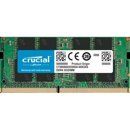 DDR4 Portable 8Go 2666 Mhz Crucial CT8G4SFRA266 1.2V CL19 DDR4PO_08_C_903488 - 1