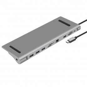 Station d'Accueil Heden USB 3.1 Type-C PD (100W) 10 Ports Mac/PC
