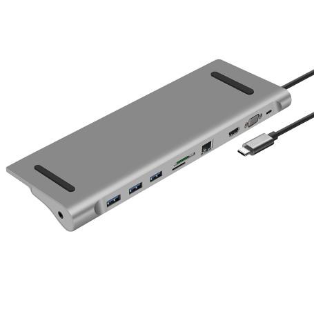 Station d'Accueil Heden USB 3.1 Type-C PD (100W) 10 Ports Mac/PC SAHE-HUBUSBC10PORT - 1